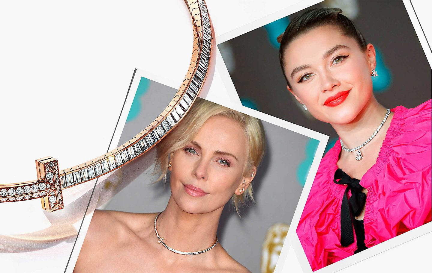 Charlize Theron at the BAFTA® Awards in a Tiffany T1 choker